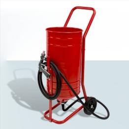 rotes mobiles sandstrahlgerät mit Schlauch