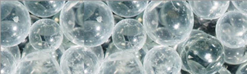 Nahaufnahme Strahlmittel Kunststoff